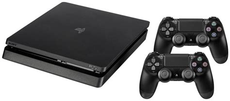 Playstation 4 Ps4 Slim 500gb Dualshock 4 sony playstation 4 slim 500gb schwarz inkl 2 dualshock 4 v2 controllern ps4 sony