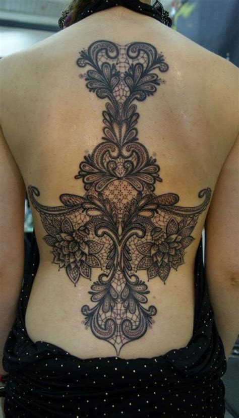 back tattoo ideas for females lace full back tattoo for women