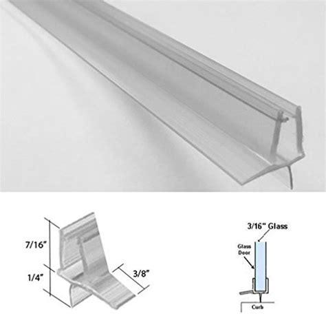 Shower Door Sweep Seal Clear Shower Door Sweep Seal Drip Rail 3 16 Glass 35 Quot Home Bath Hardware Ebay