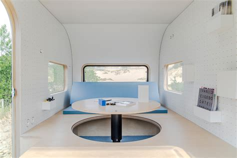 Tiny Furniture Trailer by Pop Up Office Tiny Trailer Transforms For Work And Rest