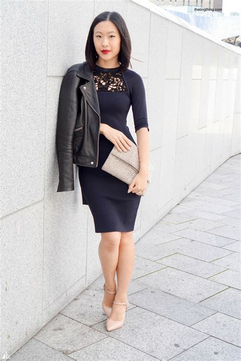 Navy Black chic navy and black bodycon from reiss the ting thing