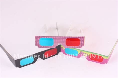 How To Make 3d Glasses Out Of Paper - free shipping paper 3d glasses sle order 1 3pcs jpg