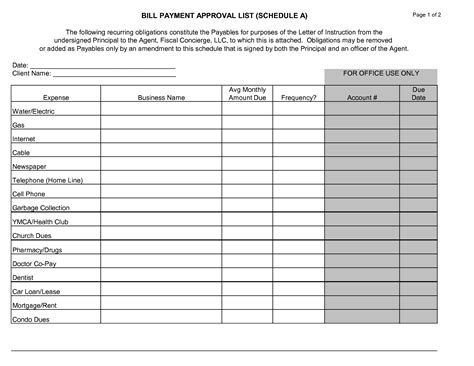 Bill Payment Record Template by Best Photos Of Monthly Bill Payments Printable Monthly