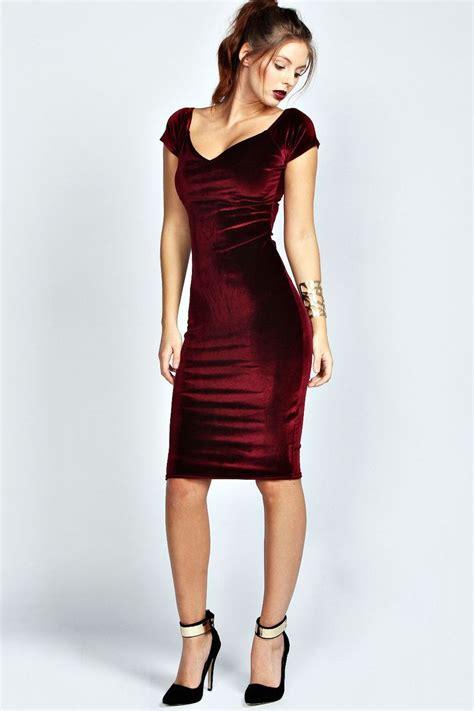 Dress Me Up In Velvet by Velvet Midi Bodycon Dress Me Encanta