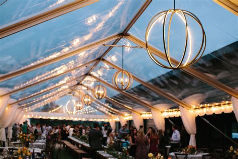 Custom Orb Lighting In Clear Tent   Goodwin Events