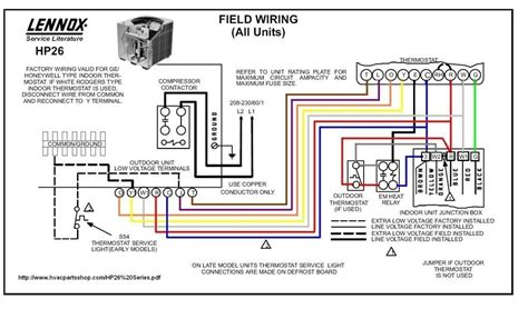 lennox ac wiring diagram wiring diagram and schematic