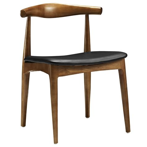 Black Wood Dining Chair Tracy Mid Century Modern Curved Wood Dining Side Chair W Cushion Black