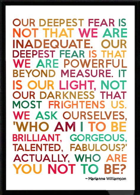 who am i if you re not you books our deepest fear marianne williamson quotes quotesgram
