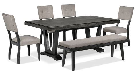 black and grey set imari 6 dining room set black and grey s