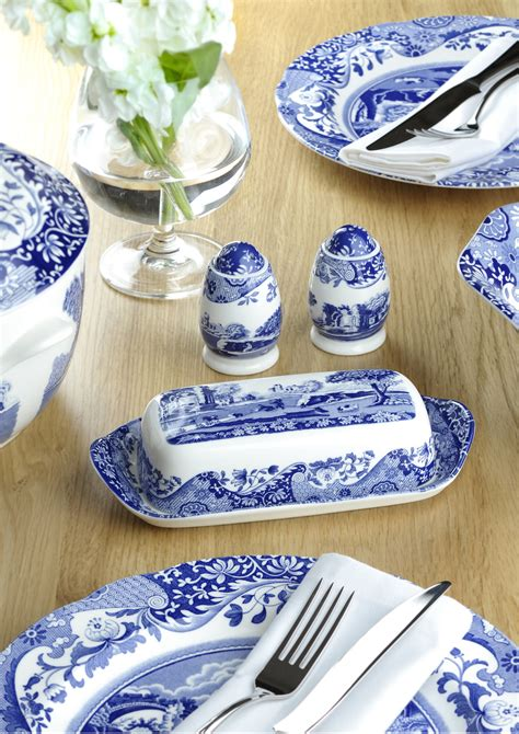 blue style table ls spode blue 10 inch dinner plates set of 4 spode uk