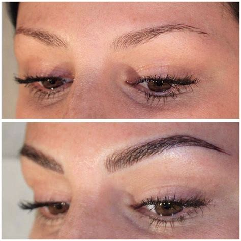 eyebrow tattoos best 25 tattooed eyebrows ideas on