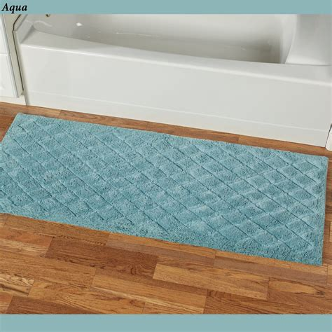 60 Inch Bath Rug Runner Splendor 60 Inch Wide Plush Bath Rug Runner