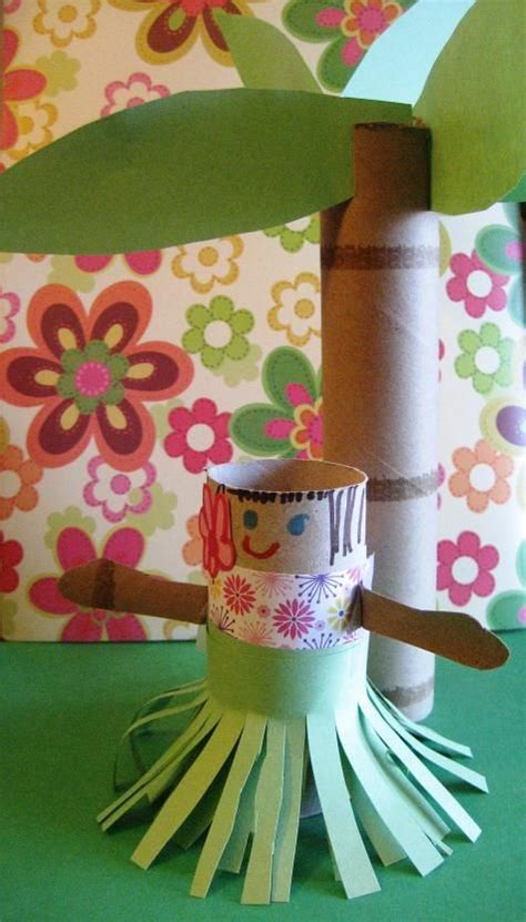 rolled paper palm trees hula paper roll craft with a paper roll palm tree cardboard and toilet paper roll