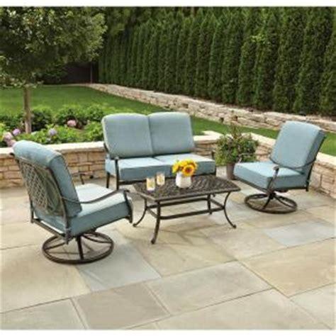 patio conversation sets 300 hton bay belcourt 4 metal patio conversation set