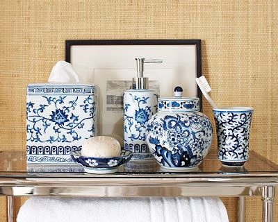 dose of design it blue white bath accessories