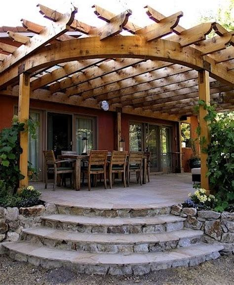 curved roof pergola for the home pinterest