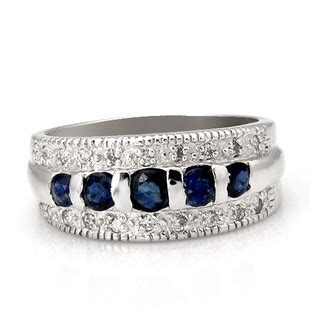 inexpensive 5 carat sapphire wedding ring band for