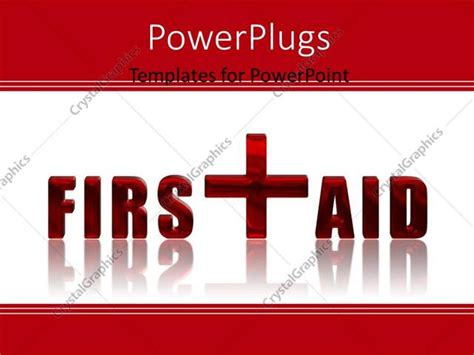 Powerpoint Template First Aid Reflected 3d Text Over Aid Powerpoint Slides