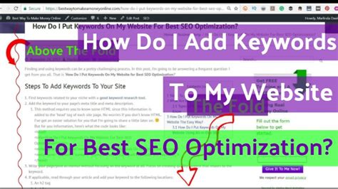 Make Money Online Keywords - best way to make money online how do i add keywords to my website for best seo