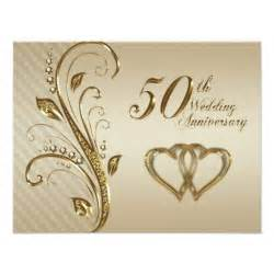 50th wedding anniversary invitation card 4 25 quot x 5 5 quot invitation card zazzle