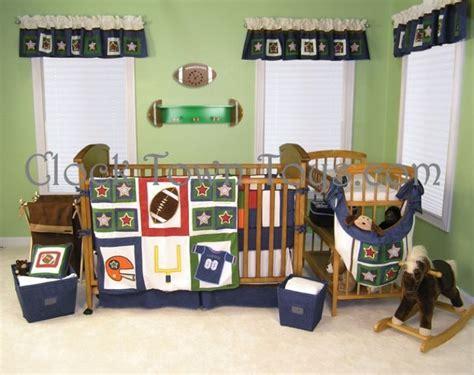 Football Crib Bedding Set 5pc Football Sports Infant Baby Crib Bedding Set Uftb 4p Cttb