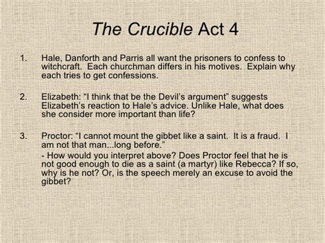 themes of act 3 of the crucible the crucible act 4