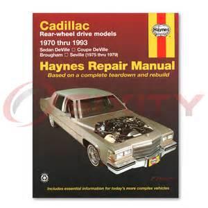 Cadillac Repair Manual Free Cadillac Fleetwood Haynes Repair Manual D Elegance