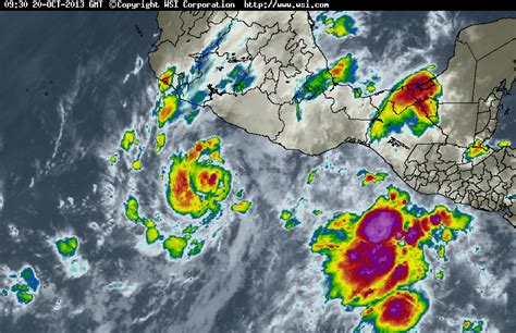 imagenes satelitales del servicio meteorologico nacional kikka raymond tormenta tropical alerta oaxaca guerrero