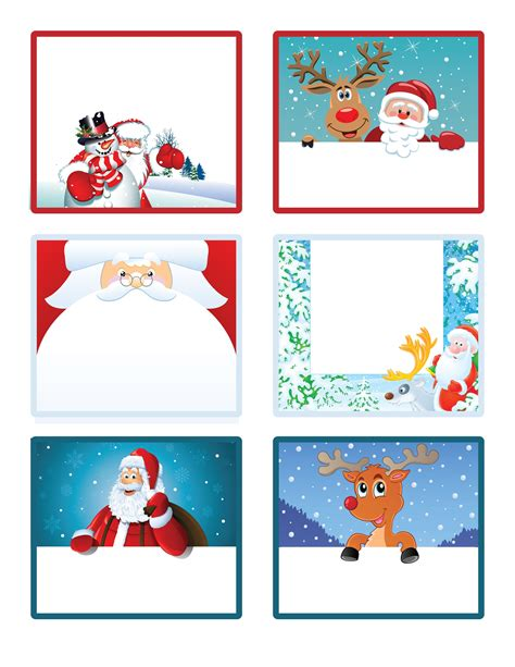 printable xmas stickers easy free letter from santa magical package free