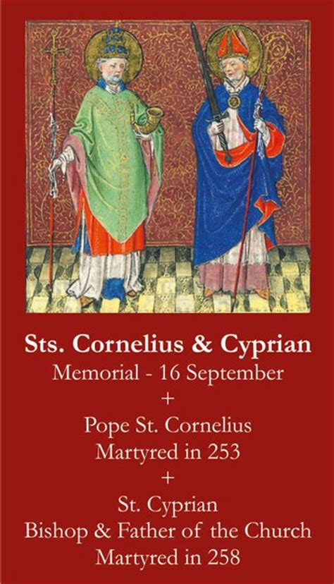 sts for card uk sts cornelius cyprian prayer card pc 578