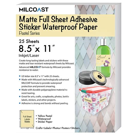 silhouette printable sticker paper 8 5 x 11 10 pkg kraft 8 by 11 sticker paper best paper 2017
