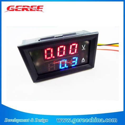 Jual Voltmeter Dc Analog jual biru digital voltmeter dan ammeter dc 4 5 30 v 5a meter saat ini id produk