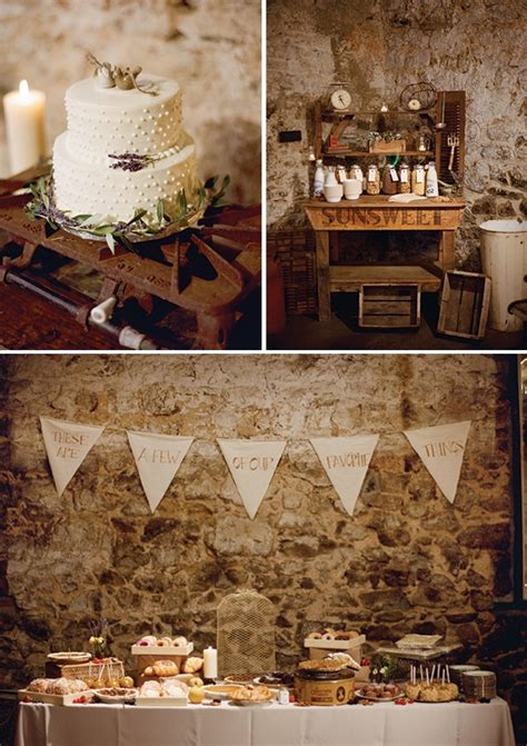 how to create a rustic dessert table for your barn wedding delicious and imaginative dessert tables chic vintage