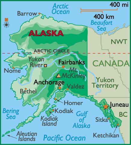 alaska map by world atlas