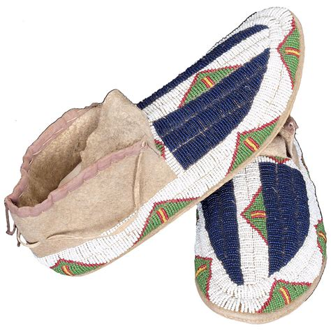 beaded moccasins antique american beaded moccasins sioux circa