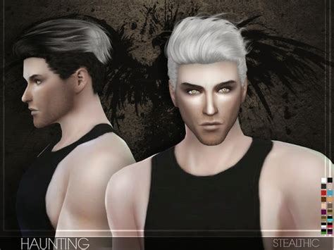 sims 4 cc guys hair my sims 4 blog stealthic haunting hair for males
