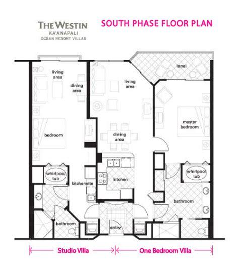 500 Sq Ft Floor Plans Westin Ka Anapali Ocean Resort Dream Vacation Villas