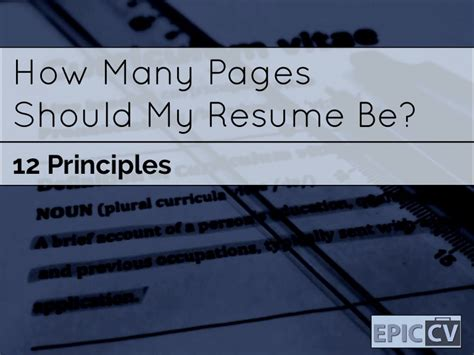 Resume One Many by How Many Pages Resume Resume Ideas