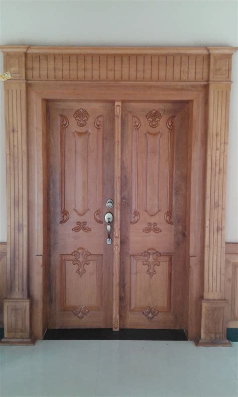 main entrance door design kerala style carpenter works and designs