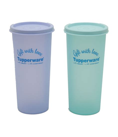 Tupperware Rainbow tupperware printed rainbow tumbler plastic containers set of 2 available at snapdeal for rs 319