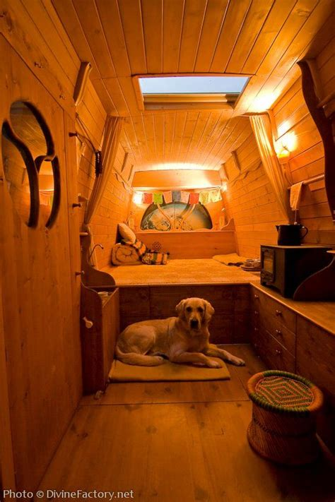 boat made into bed man turns work van into diy motorhome tiny cabin tiny