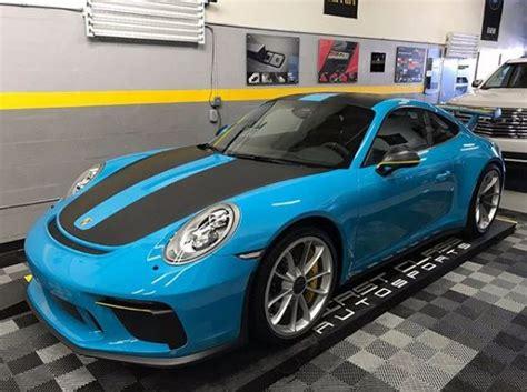 miami blue porsche gt3 miami blue 2018 porsche 911 gt3 gets gt2 rs weissach