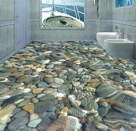 Floor Decorations by Ceramic Decorative Tile 3d Cobblestone Design Swimming