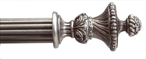 drape accessories decor sanremo antique drapery rod in silver for drape