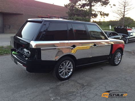 chrome range rover sport matte chrome range rover sport vehicle customization