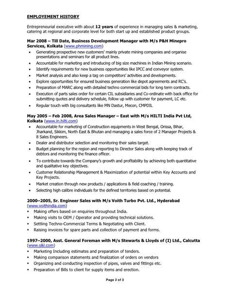 entrepreneurial experience resume resume ideas