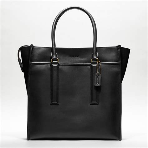 Coach Legacy Leather coach legacy leather tote in black for lyst