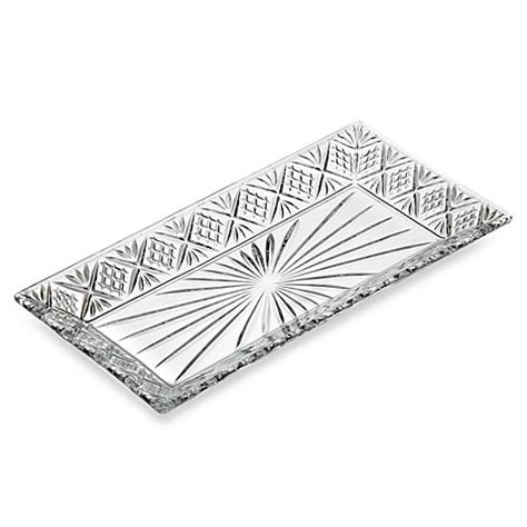 bed bath and beyond dublin godinger dublin crystal 12 inch rectangular tray bed