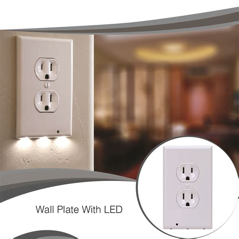 led light outlet drop shipping 1 pack snappower guide light outlet wall