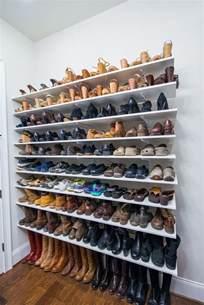 Shoe Shelf by 25 Best Ideas About Shoe Shelves On Shoe Wall